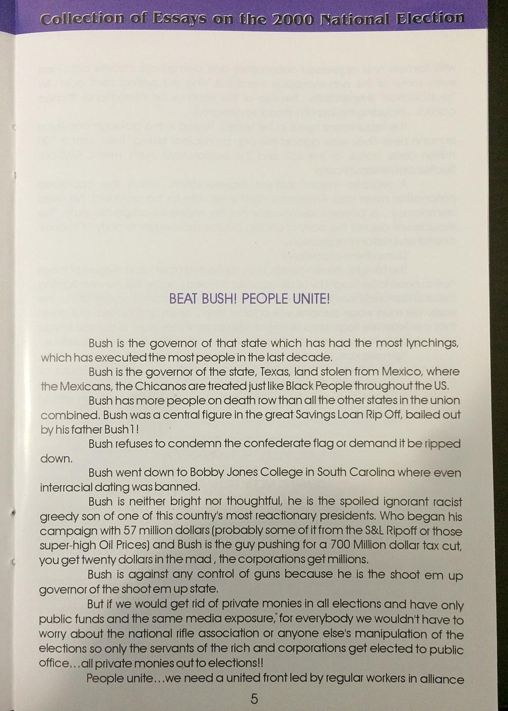 amiri baraka org an essay from amiri baraka s bushwacked